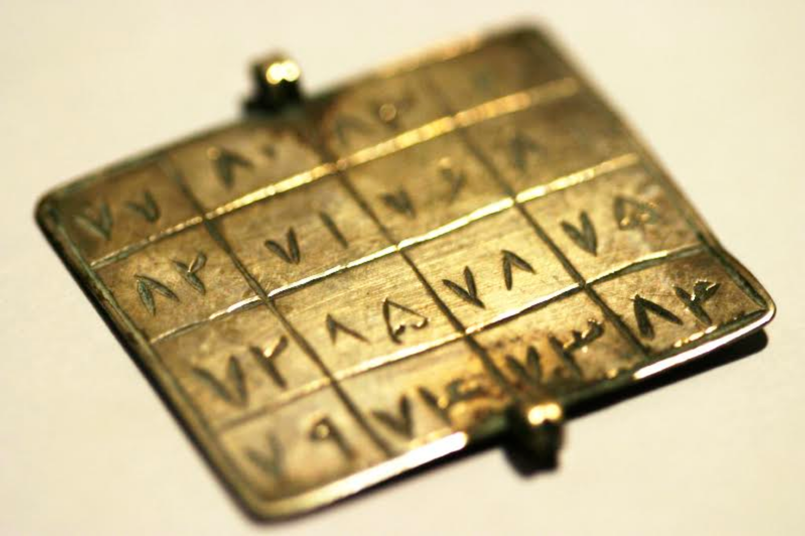 A Palindromic Amulet - A palindromic amulet, silver, India. A palindrome is a word, phrase, number, or other sequence of characters that reads the same backward as forward, and is often considered to have magical properties. Photo credit: Kashgar