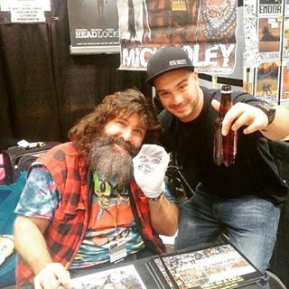 Mick Foley loves us! New show tonight at 7pm on highsocietyradio.co!  #basedpod #rockandsockconnection
