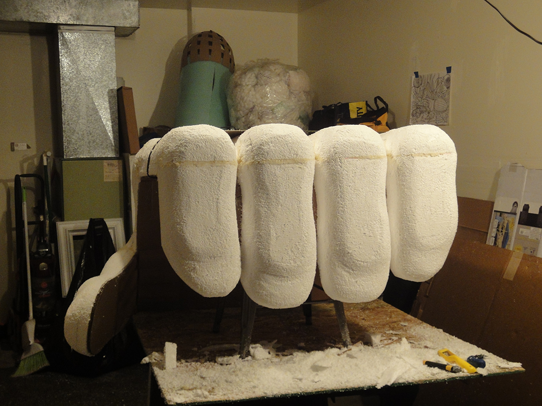 Giant Hand Styrofoam