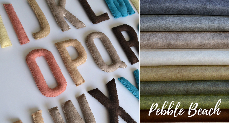 Alphabet Pattern Kit  (link)  + Wool Felt Palette  (link)