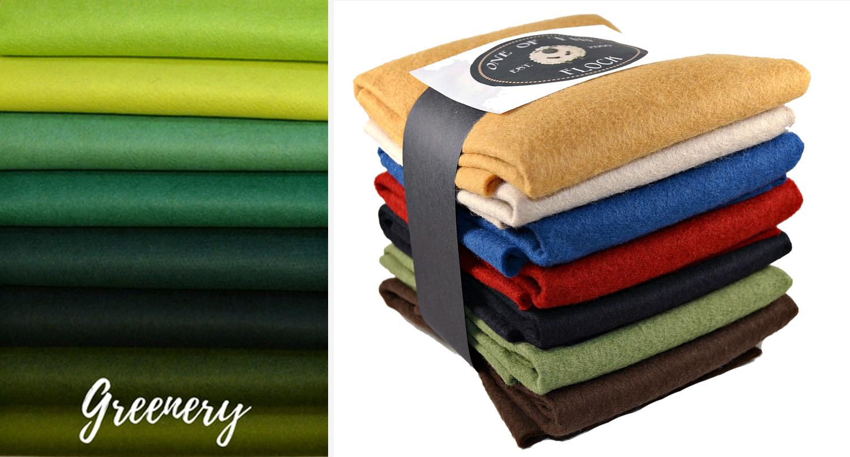 Greenery Wool Felt Palette  (link)  + Homespun Collection