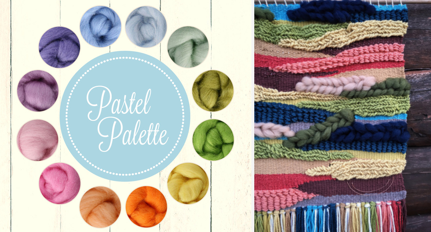 Roving Pastel Palette  (link)  + Customer Creation using  One of the Flock  materials