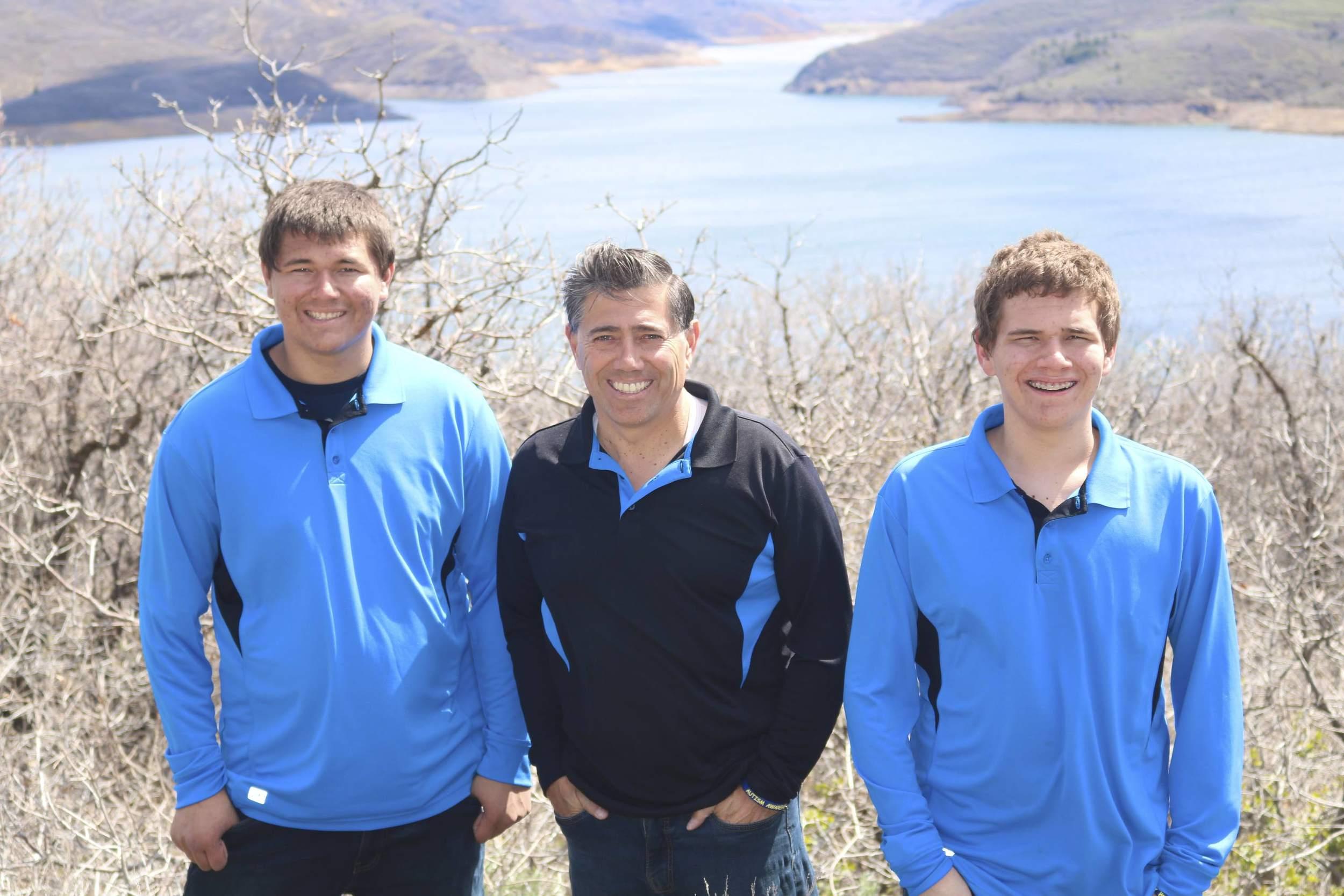 April 2016 Provo Canyon. Luis, Kyler and Koleden.