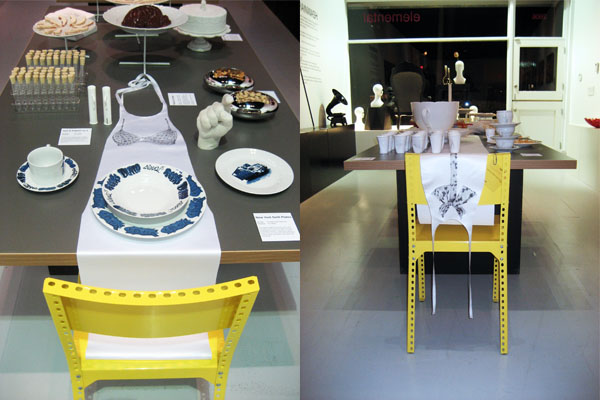 kns collective gallery table clothes art objects