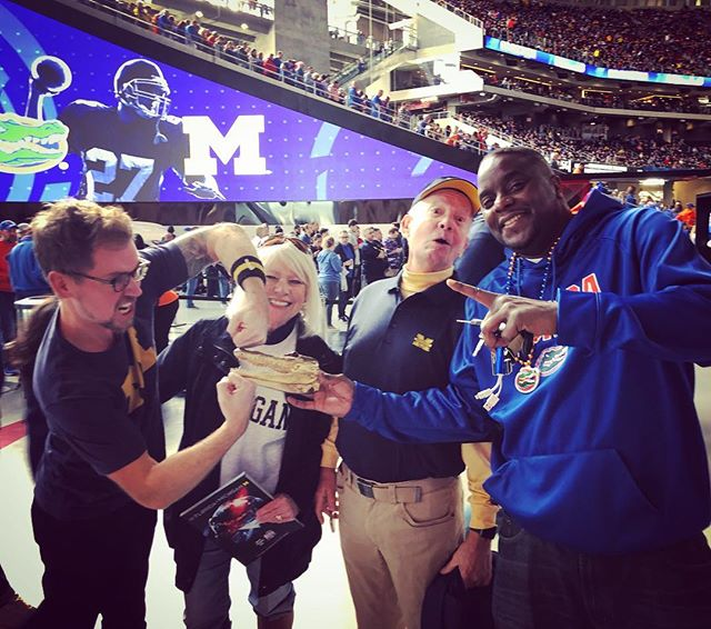 This was about as close as we got to crushing the 🐊 today 🤦♂️Bight side is mom and dad got to see the new stadium for the first time lol. #goblue