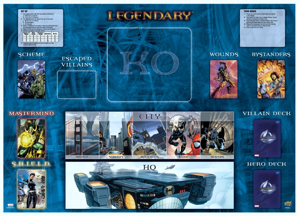 Marvel Legendary - Board