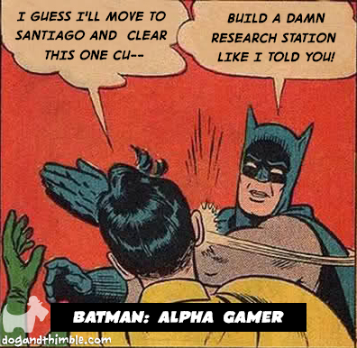 Alpha gamer board game meme