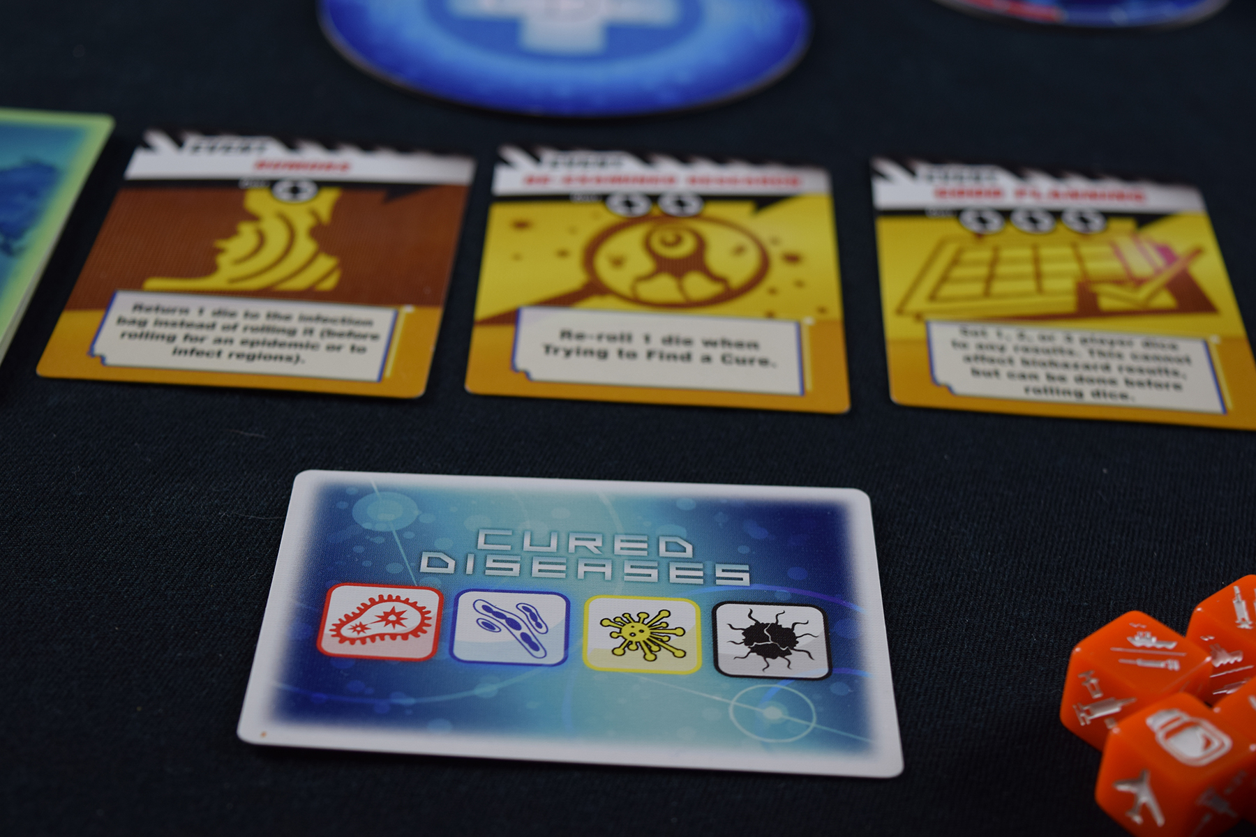 Pandemic Cured Viruses Card