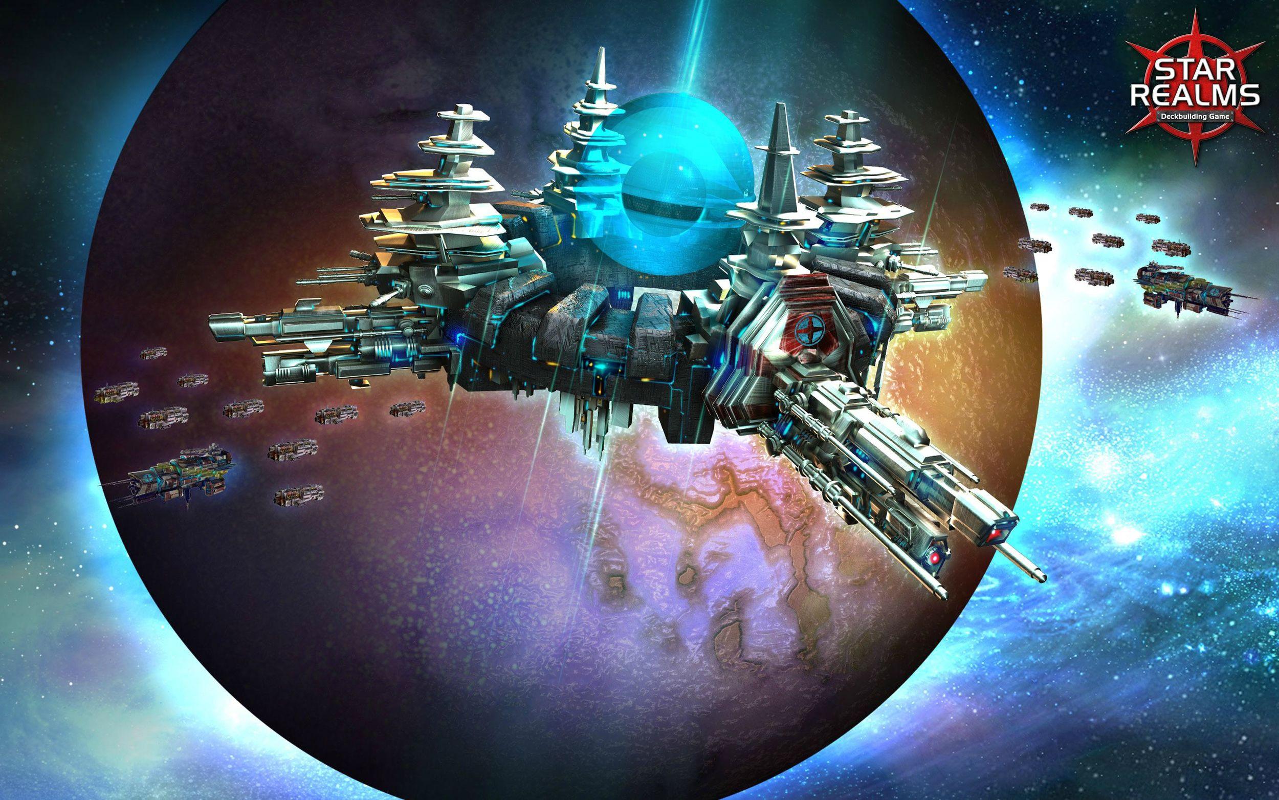 Star Realms has amazing art.