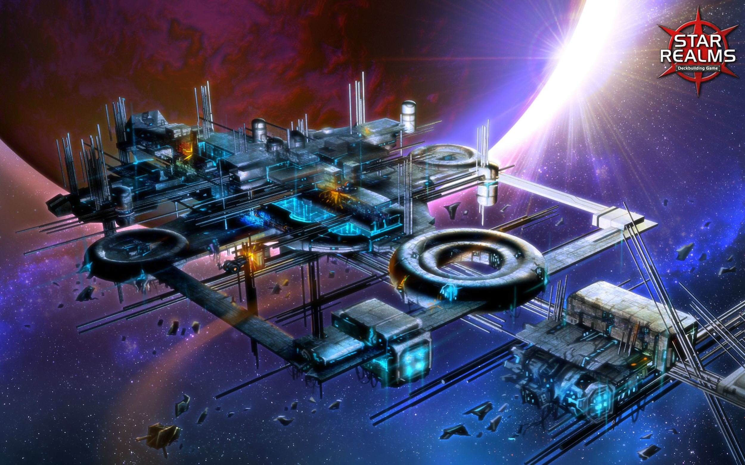 Star Realms is a vision of the future... a future with lots of lens flare.