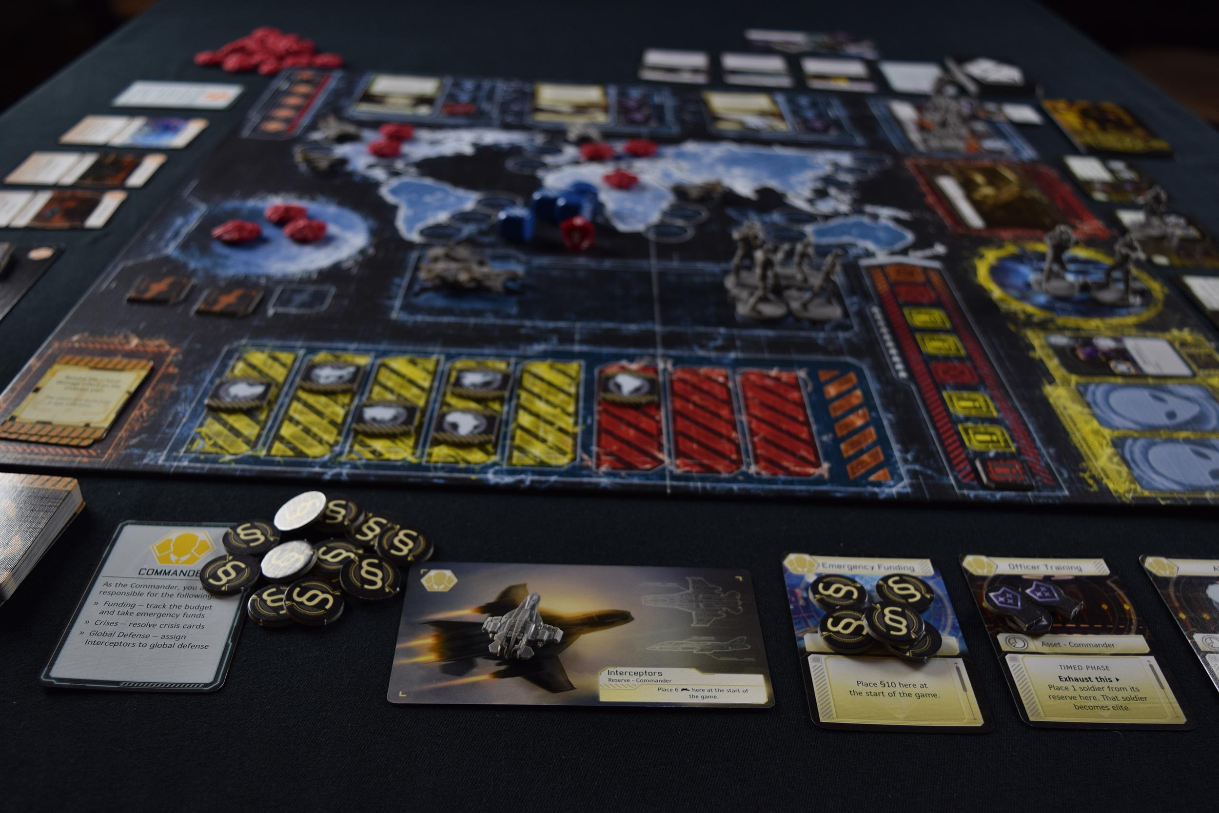 XCOM The Board Game's board.