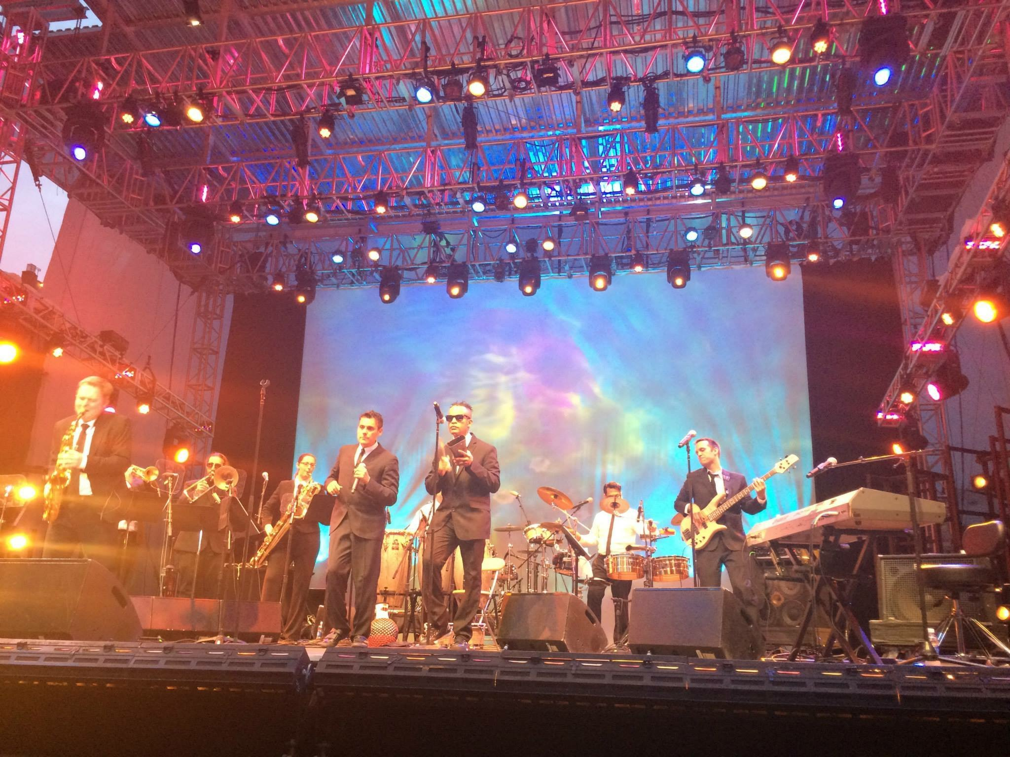 Performing with Ray Lugo and the Boogaloo Destroyers at Lincoln Center.