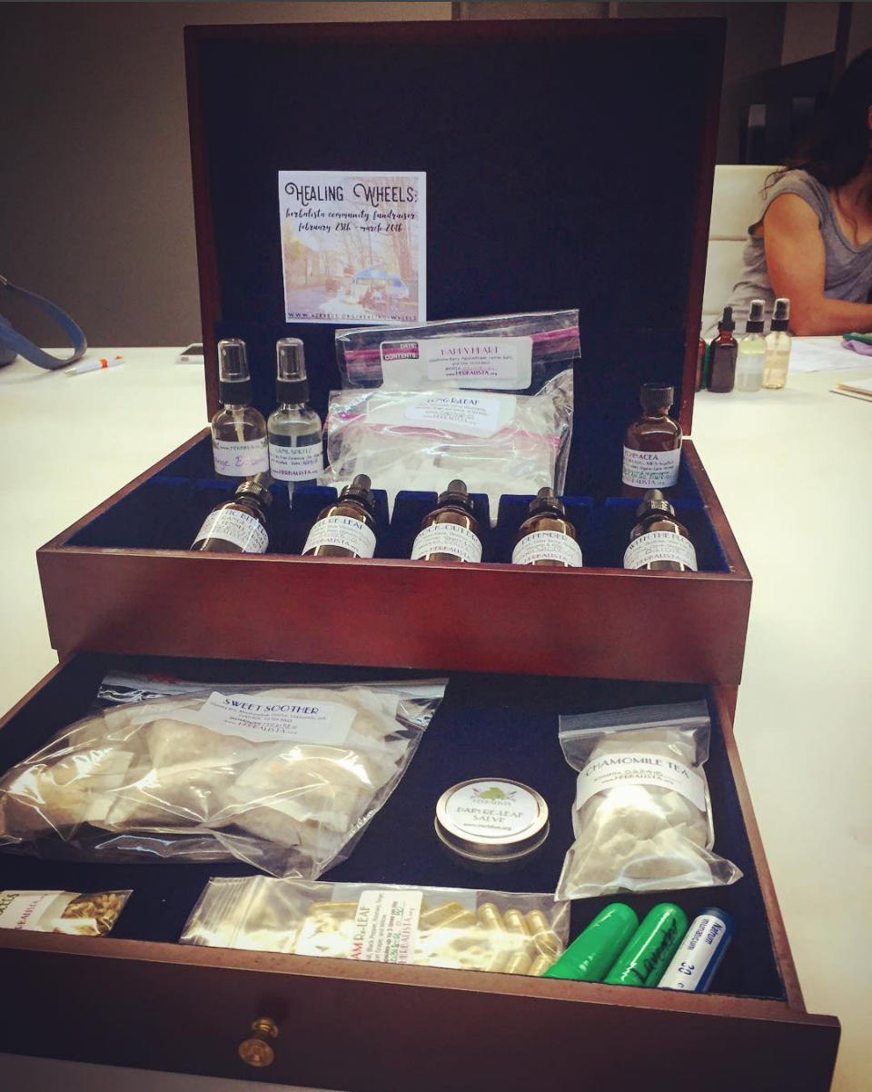 You, too, can build an herbal medicine chest as awesome as this one made in our last workshop!
