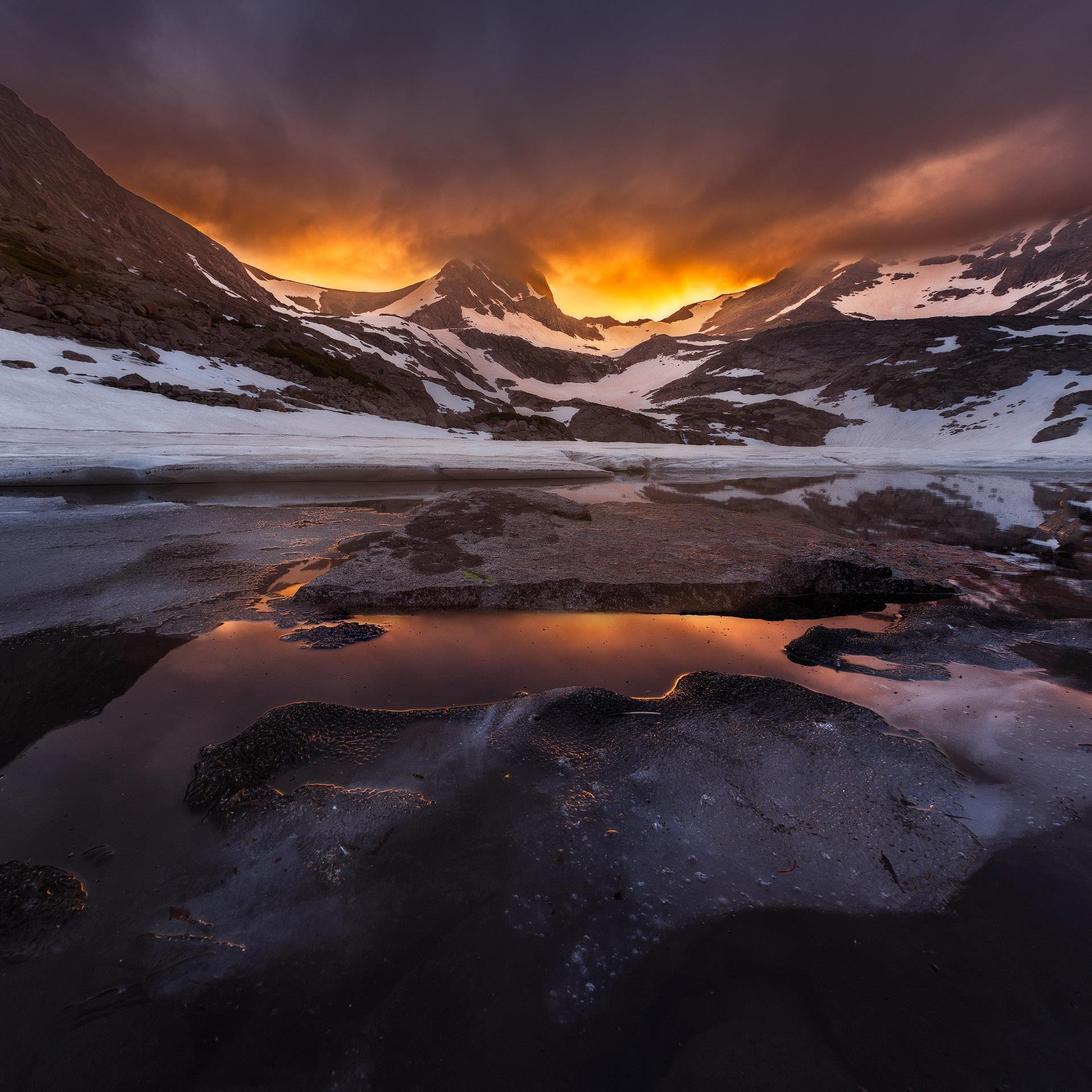 Sunset at Blue Lake   David Kingham Photography