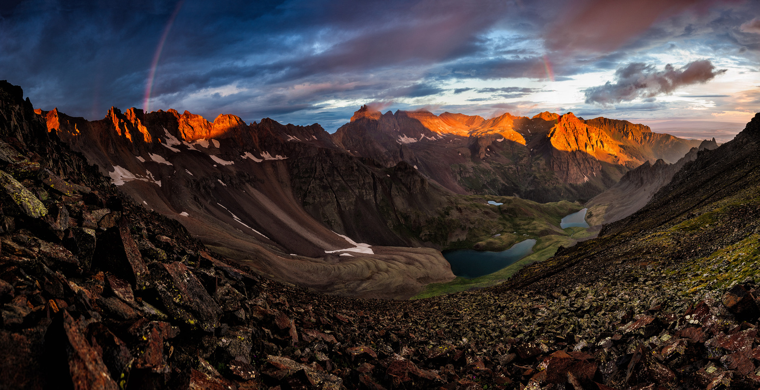 Blue Lakes Pass Sunrise     David Kingham Photography
