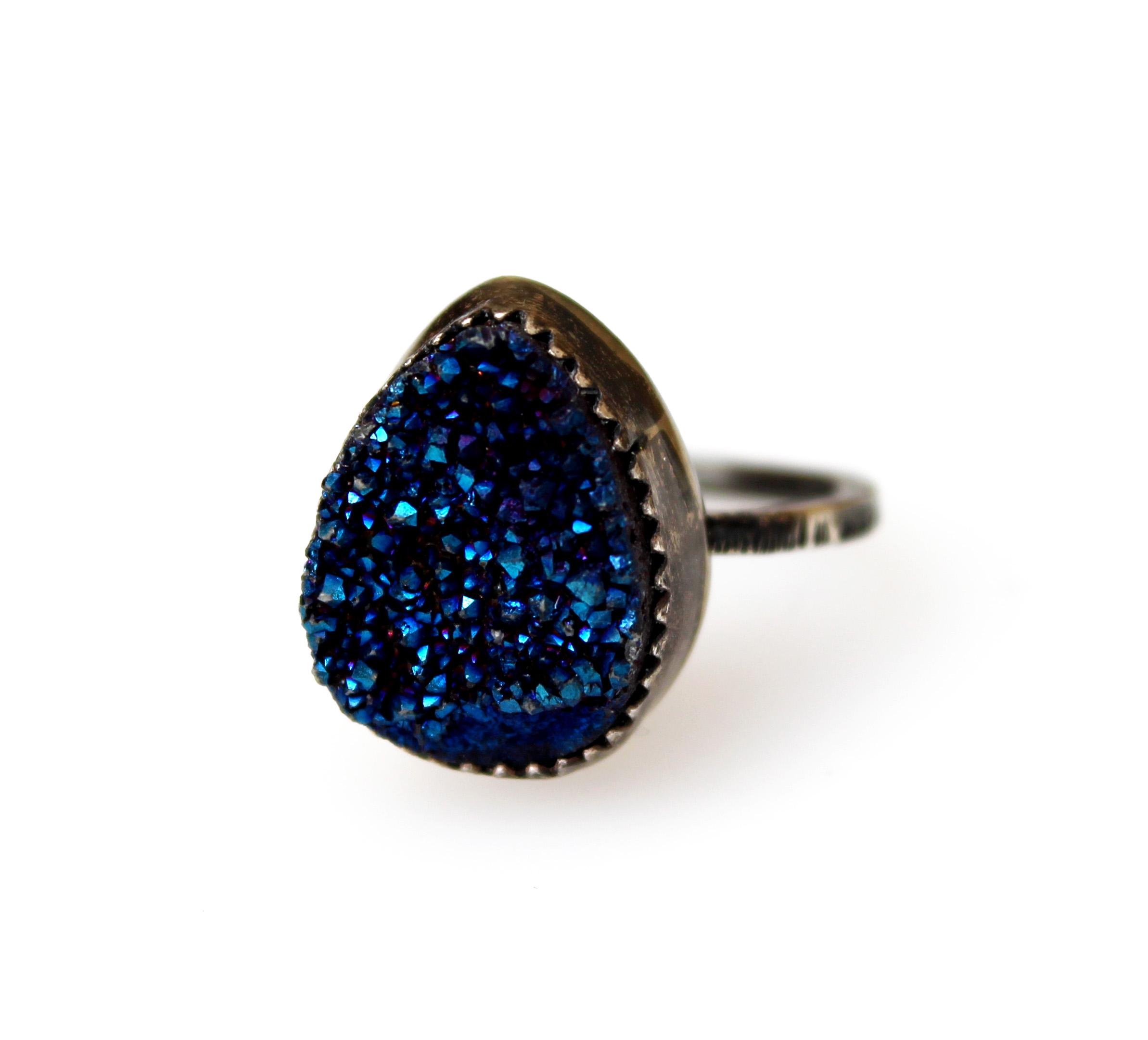 Druzy ring   Jane Crow Jewelry