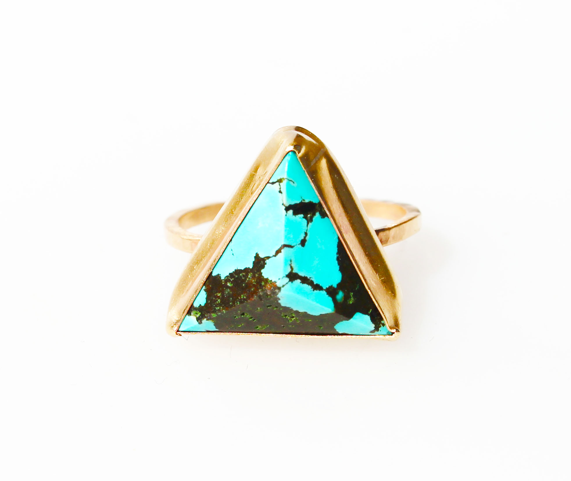 turquoise pyramid ring gold | Crow Jane Jewelry