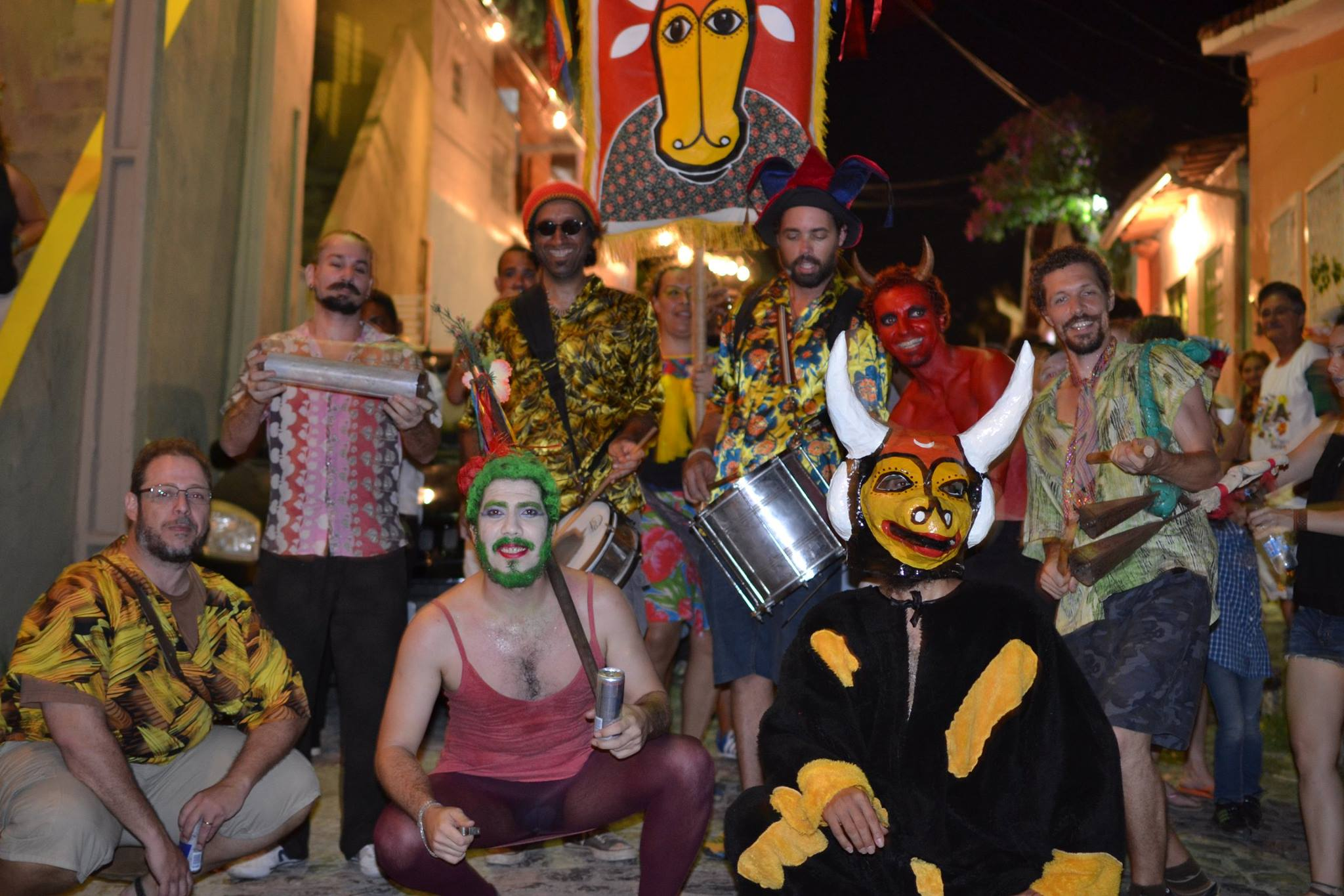 Músicos del Bloco de maracatu Rural Boi Dendé en Olinda. Foto: suministrada por Lula Marcondes, Director.