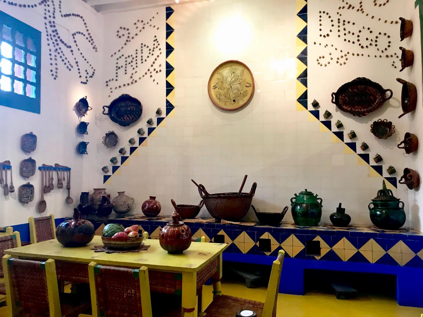 Cocina en Casa Frida.