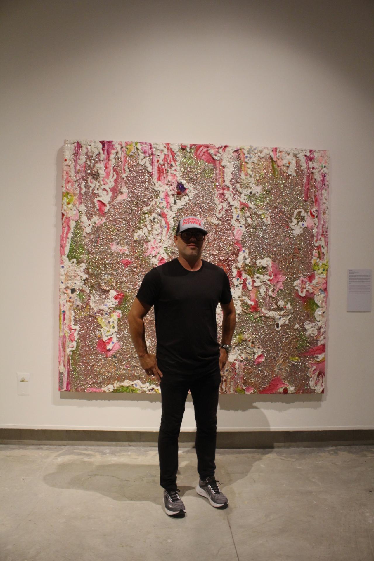 Serie: Post Wonderland, 2006. Melvin Martínez. Cuentas, escarchas, espajos, silicón sobre lienzo. Colección Figueroa Villamil.