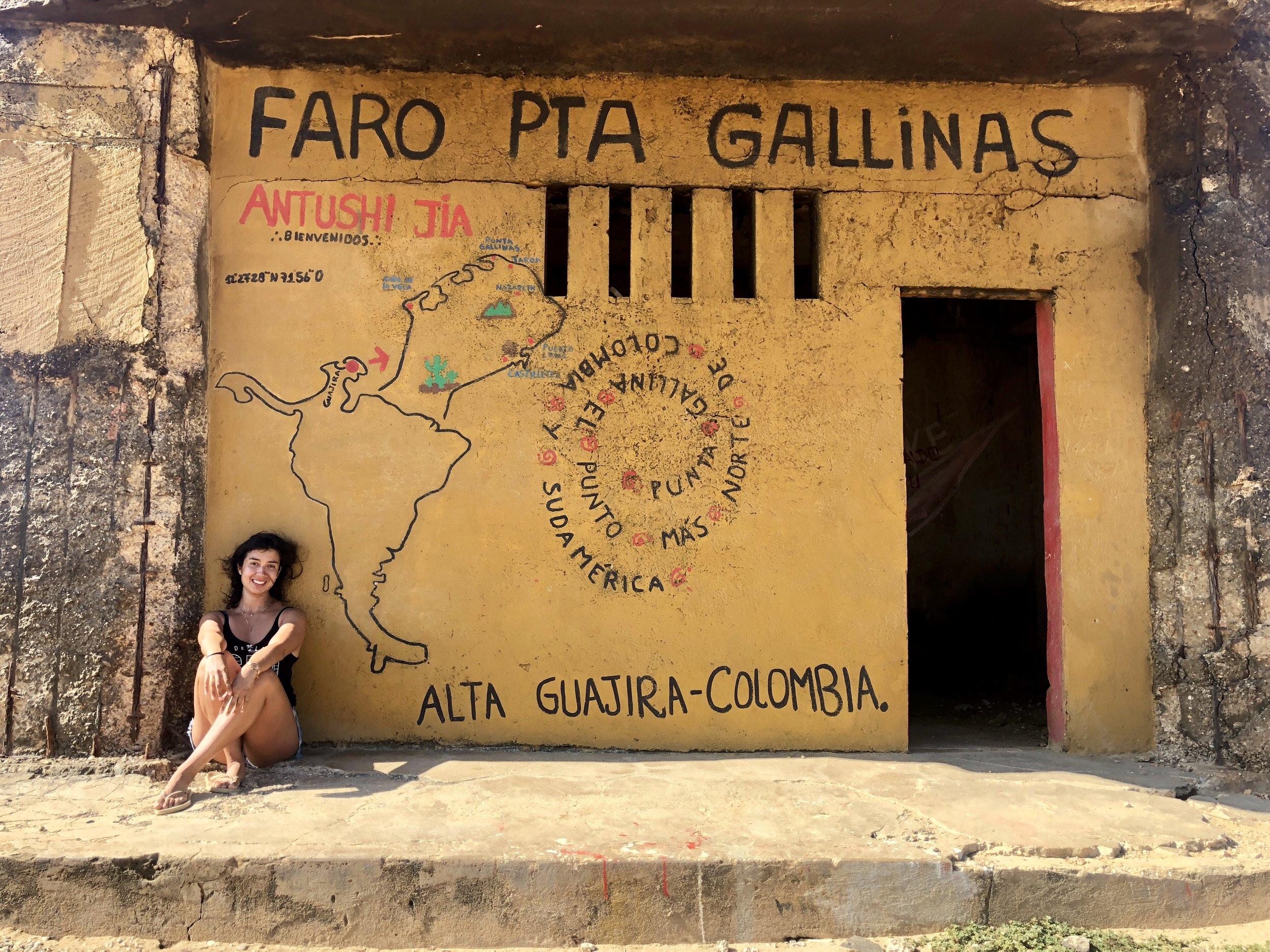 Faro Punta Gallinas, la latitud más al norte de América del Sur.