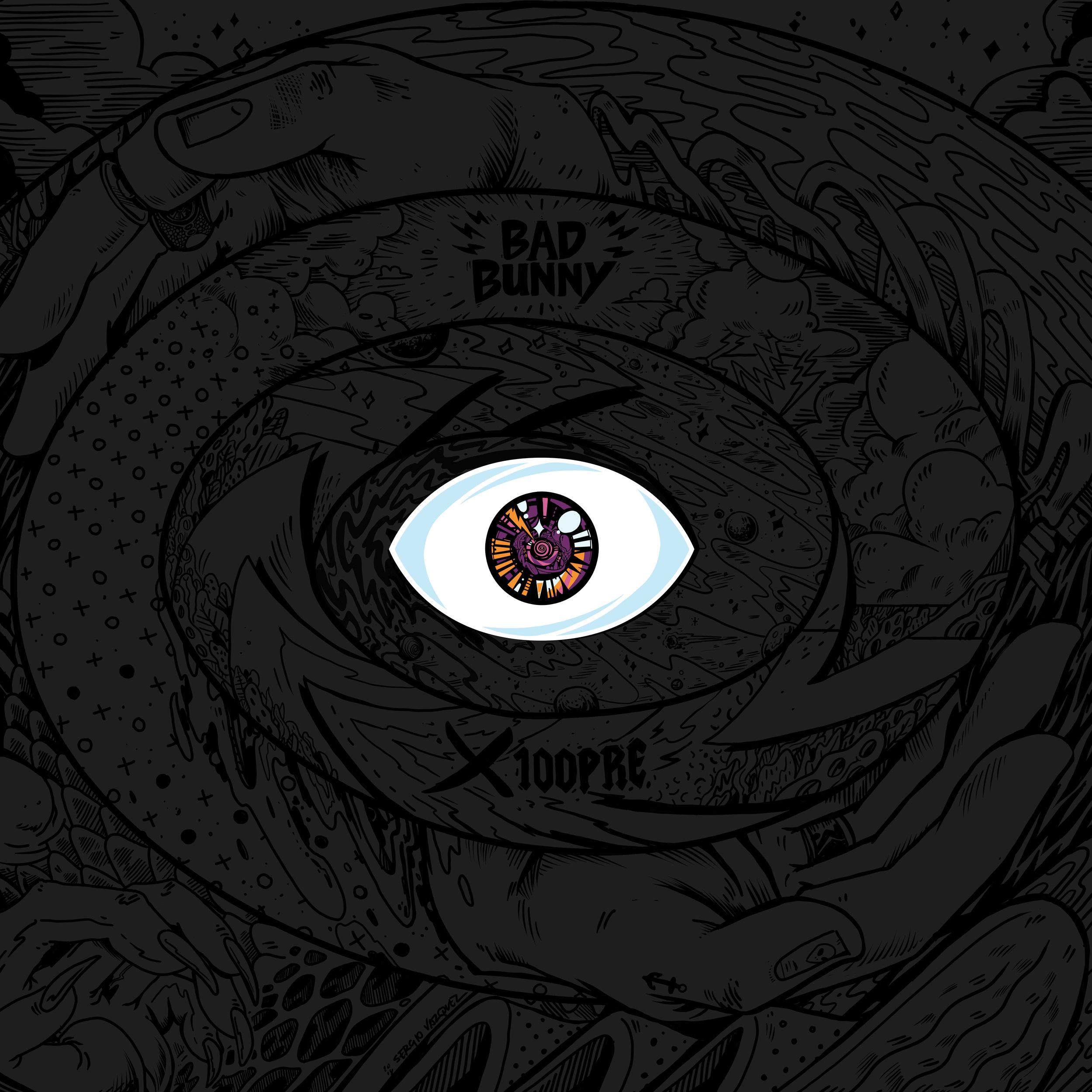 Arte disco Bad Bunny X 100PRE