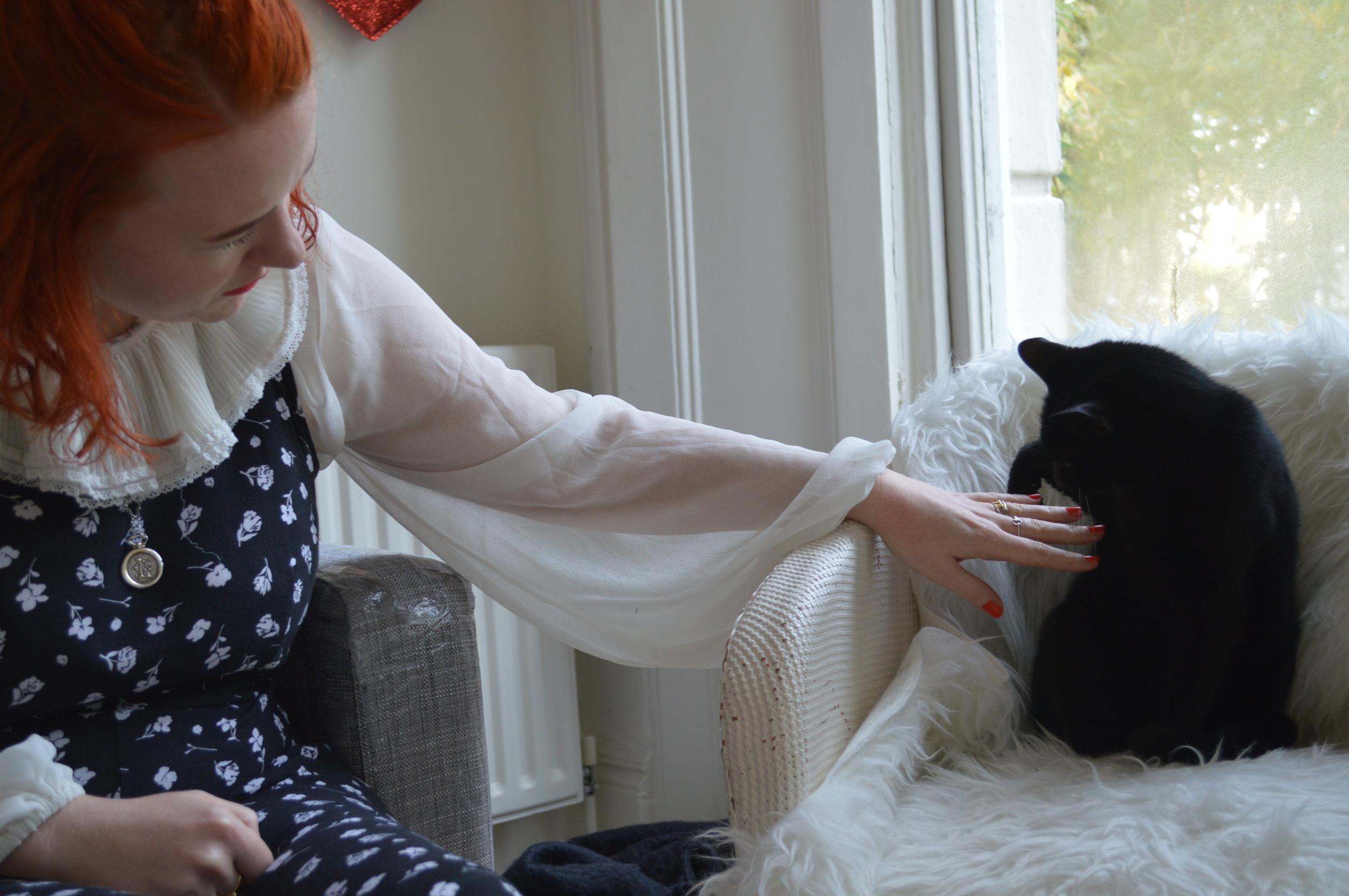 Louise Androlia and Kitty
