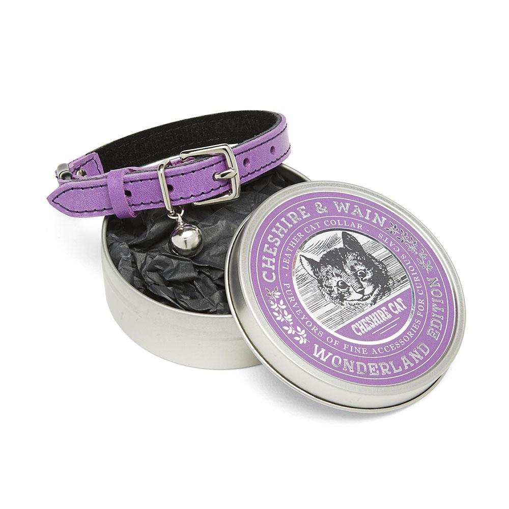 Purple luxury cat collar - cheshire cat.jpg
