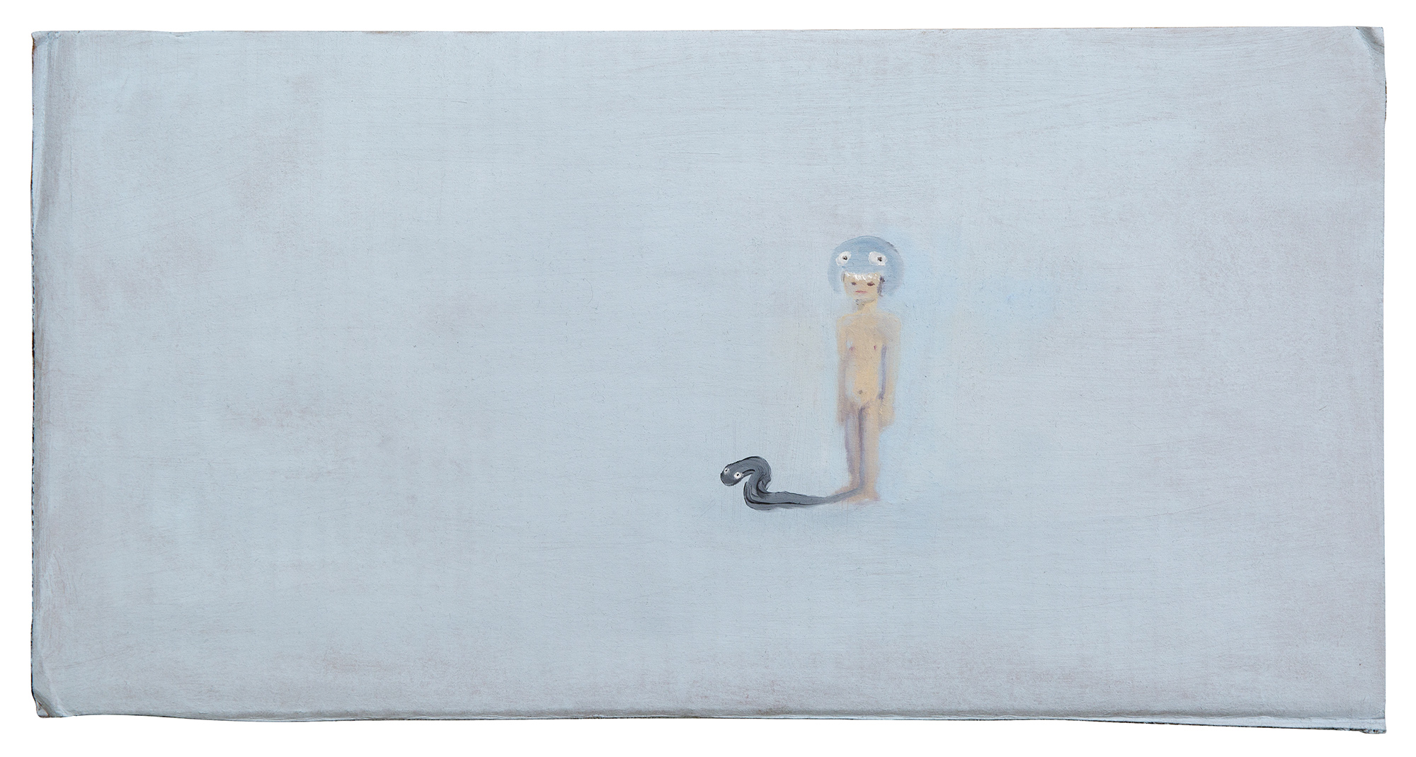 Untitled   2013   oil on cardboard, 22.5x43.5 cm