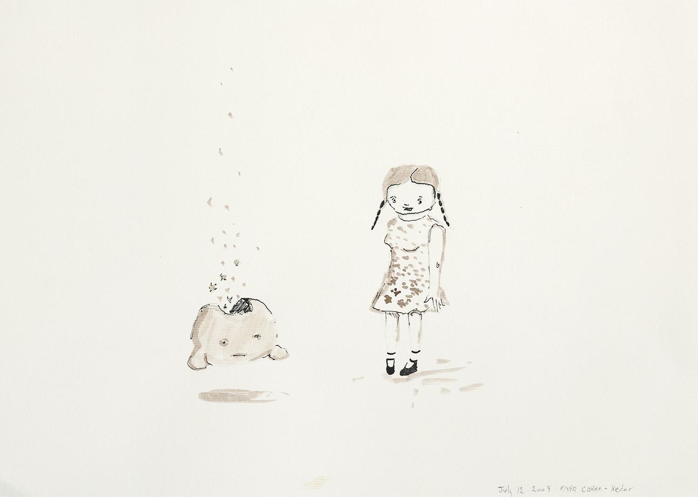 zen bubbles   2008   ink on paper, 21x30 cm