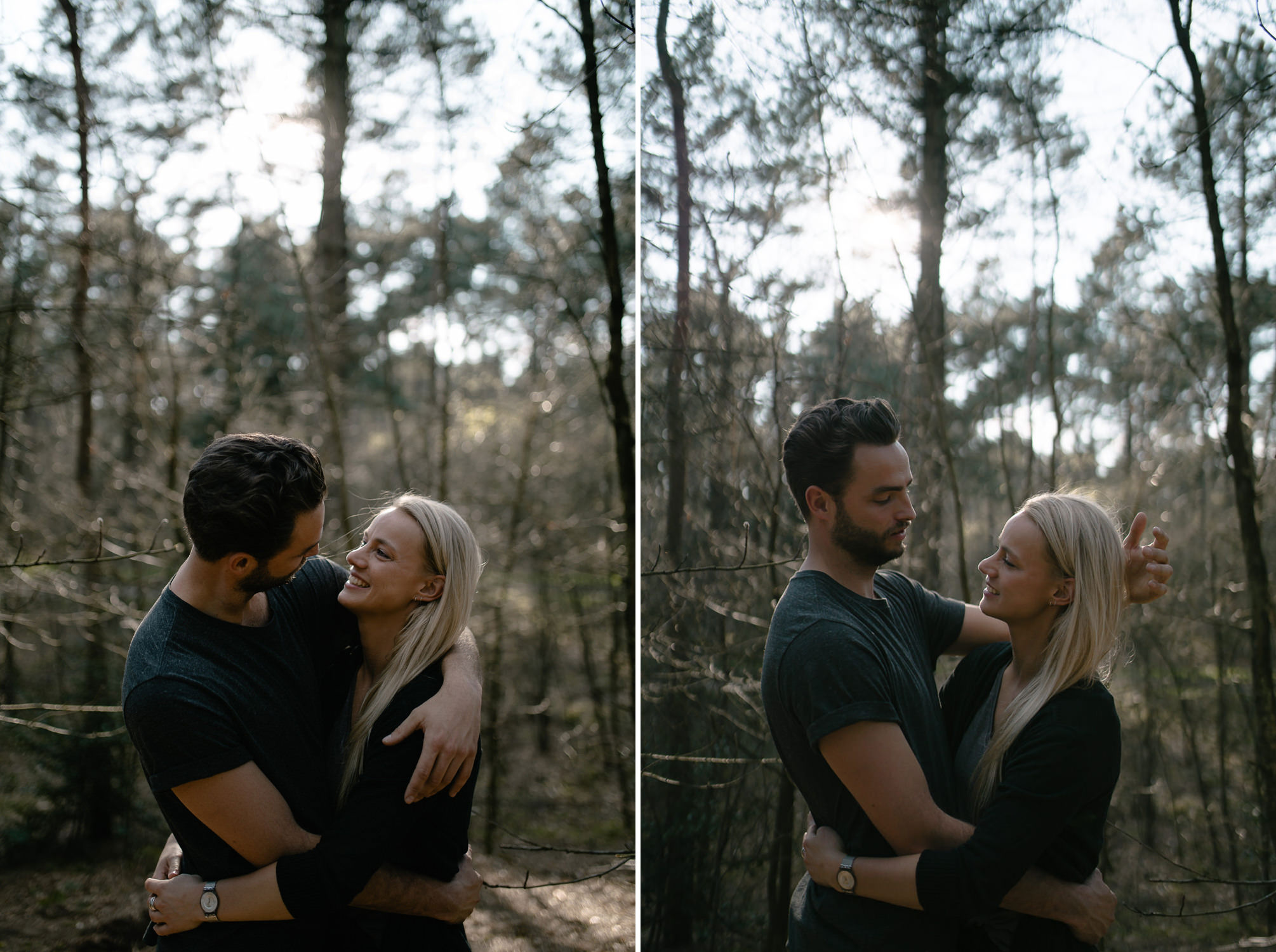 loveshoot in the forest at soesterduinen by mark hadden bruidsfotograaf amsterdam