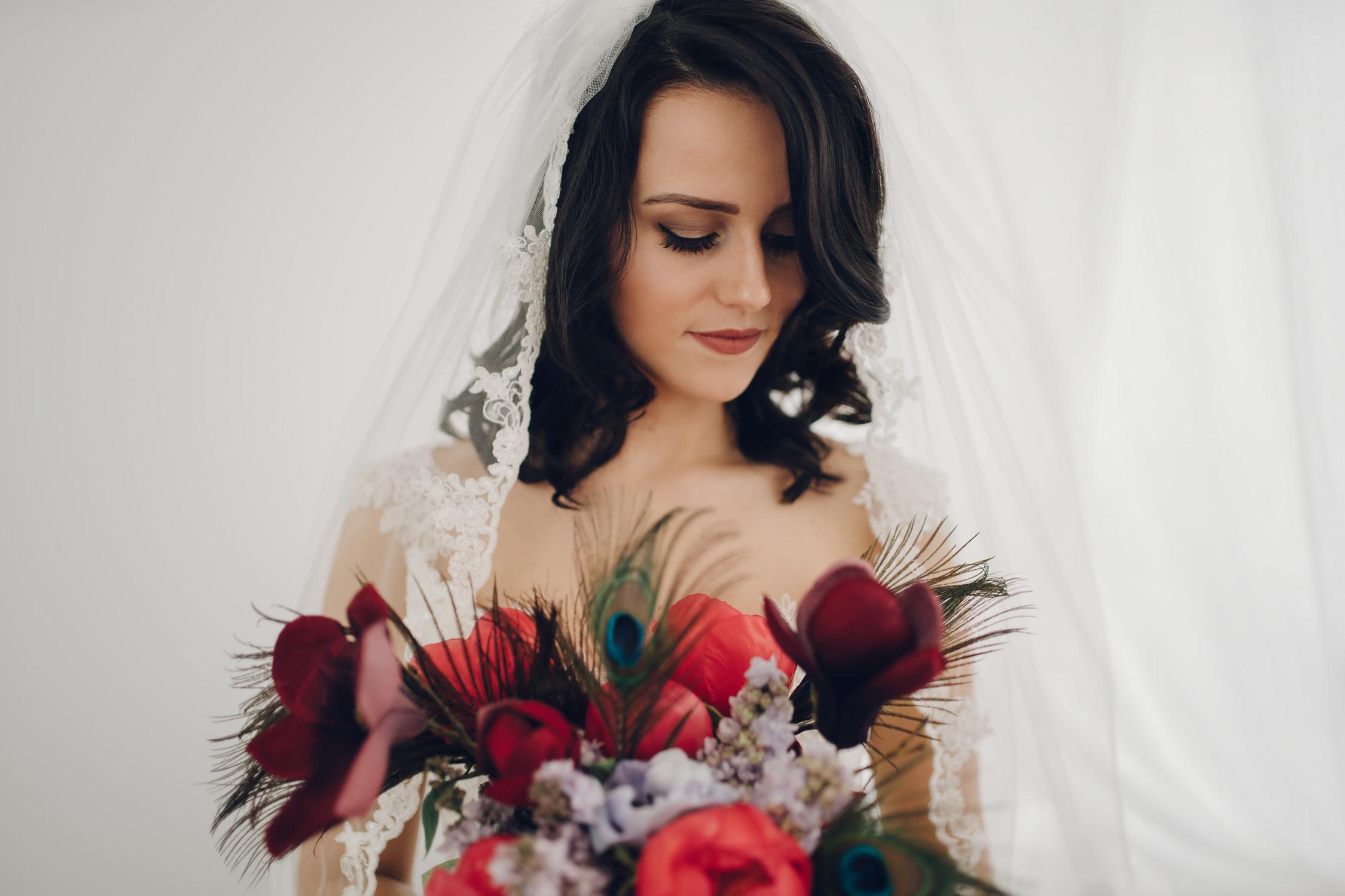 bruidsfotografie amsterdam bruid en bloemen
