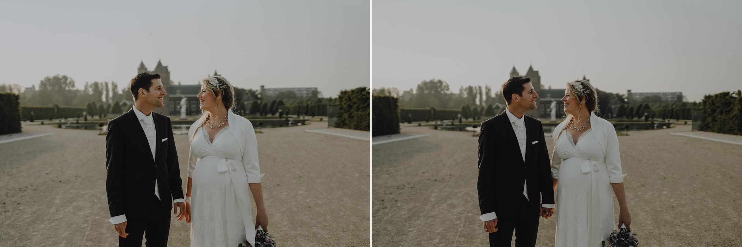 Bruidsfotografie Amsterdam - Portrets Bruidspaar