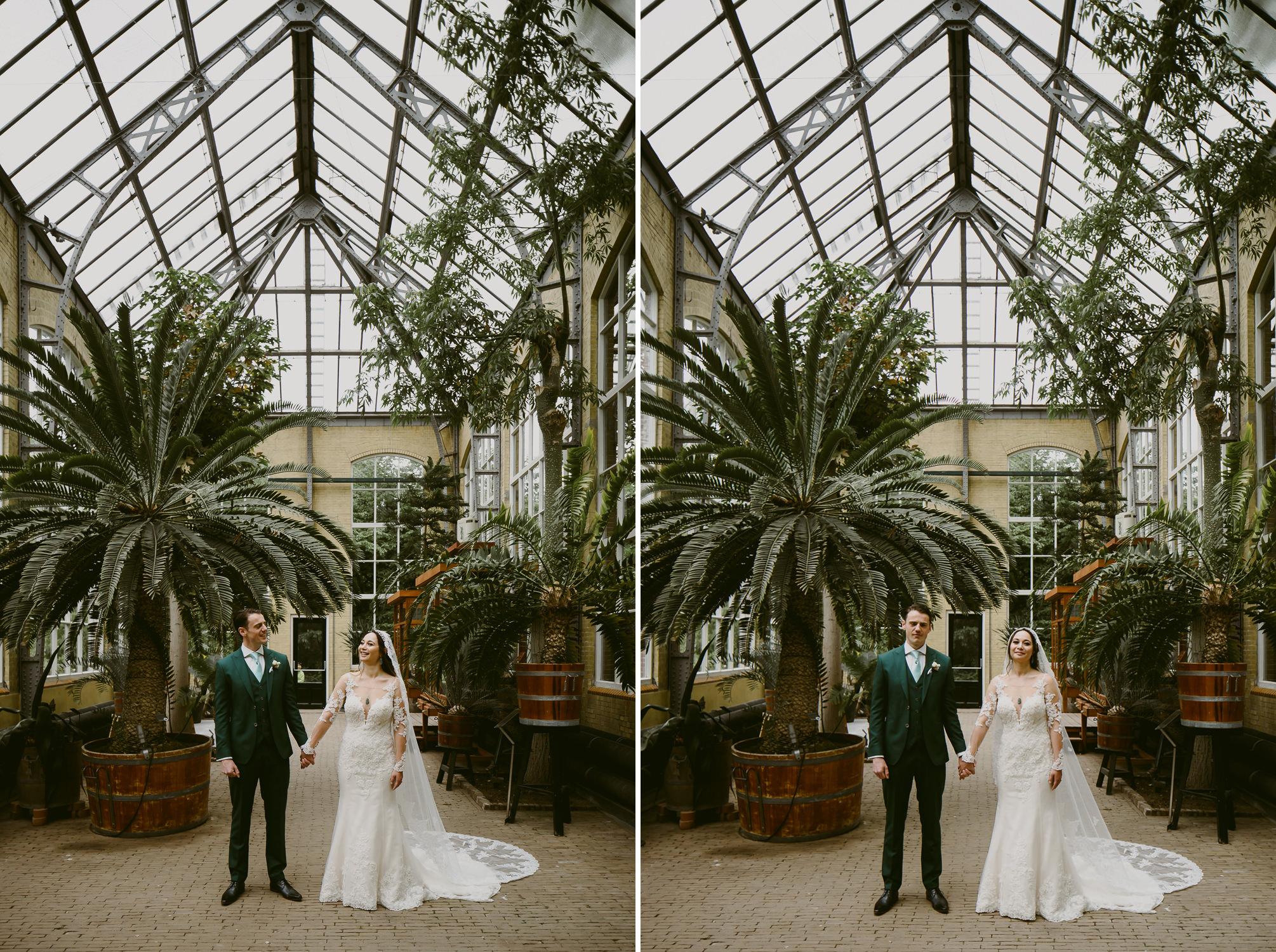 amsterdam wedding photographer mark hadden at the hortus botanicus