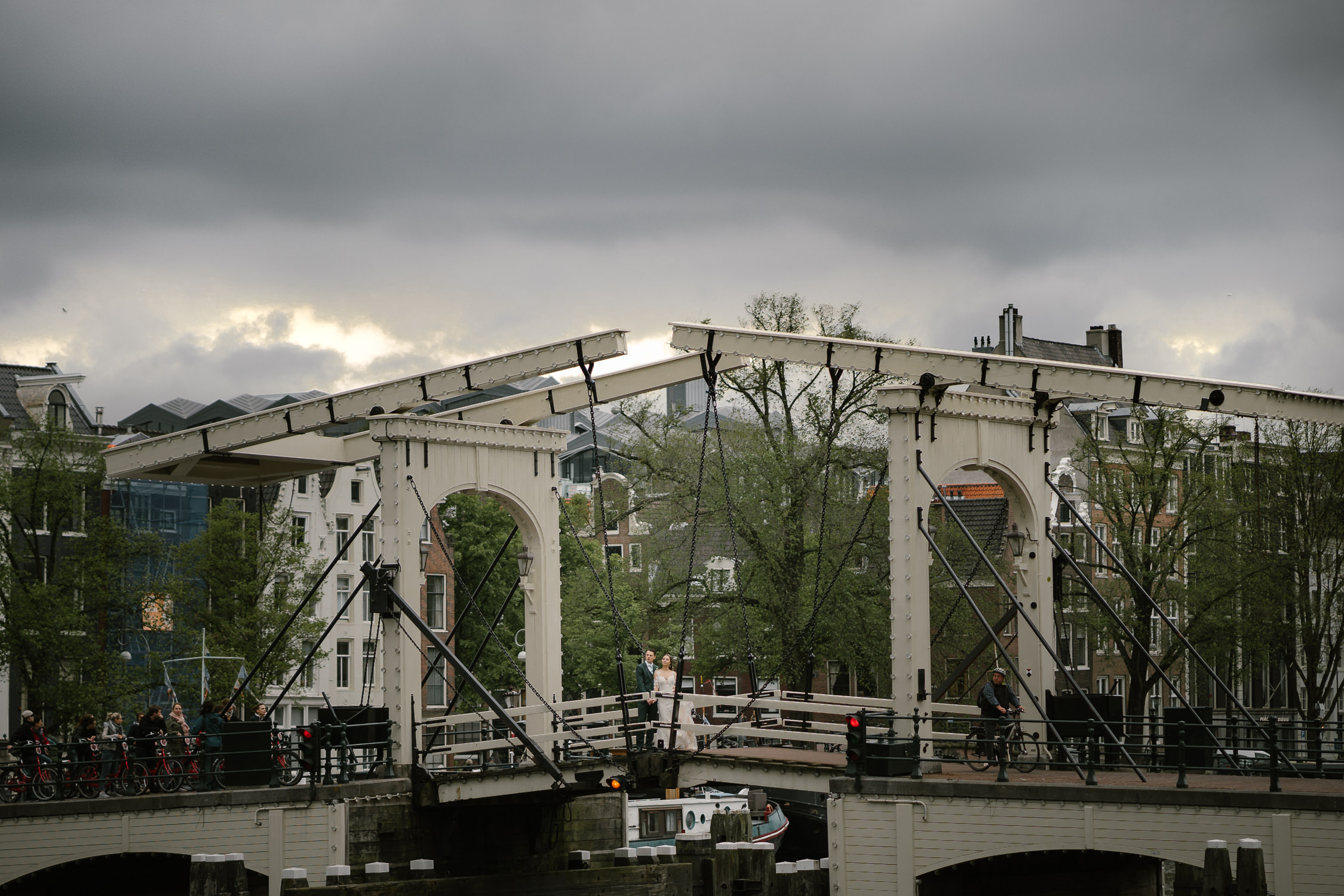 trouwfotograaf amsterdam magere brug foto
