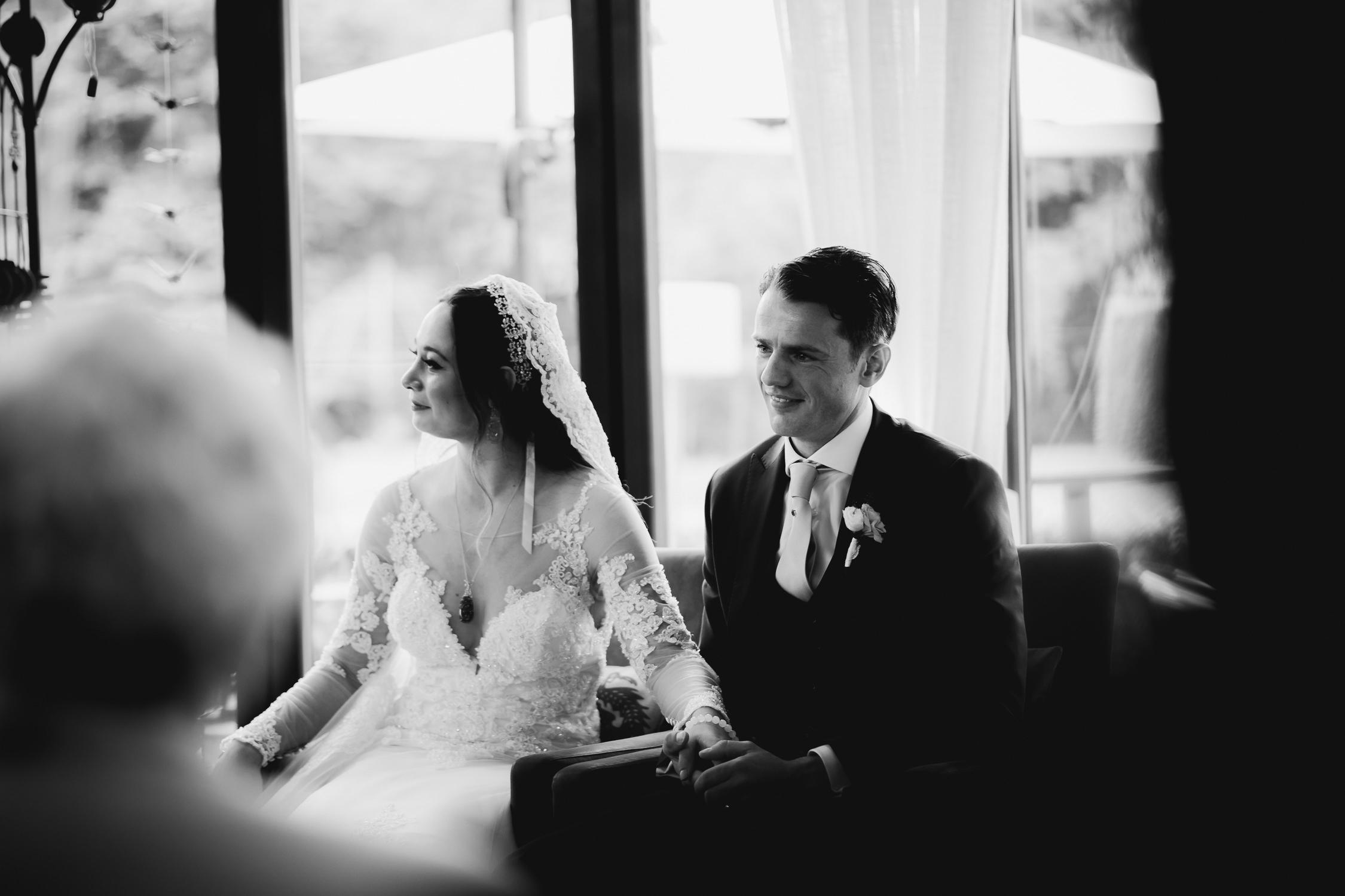 bruidsfotografie amsterdam bruiloft ceremonie rosarium