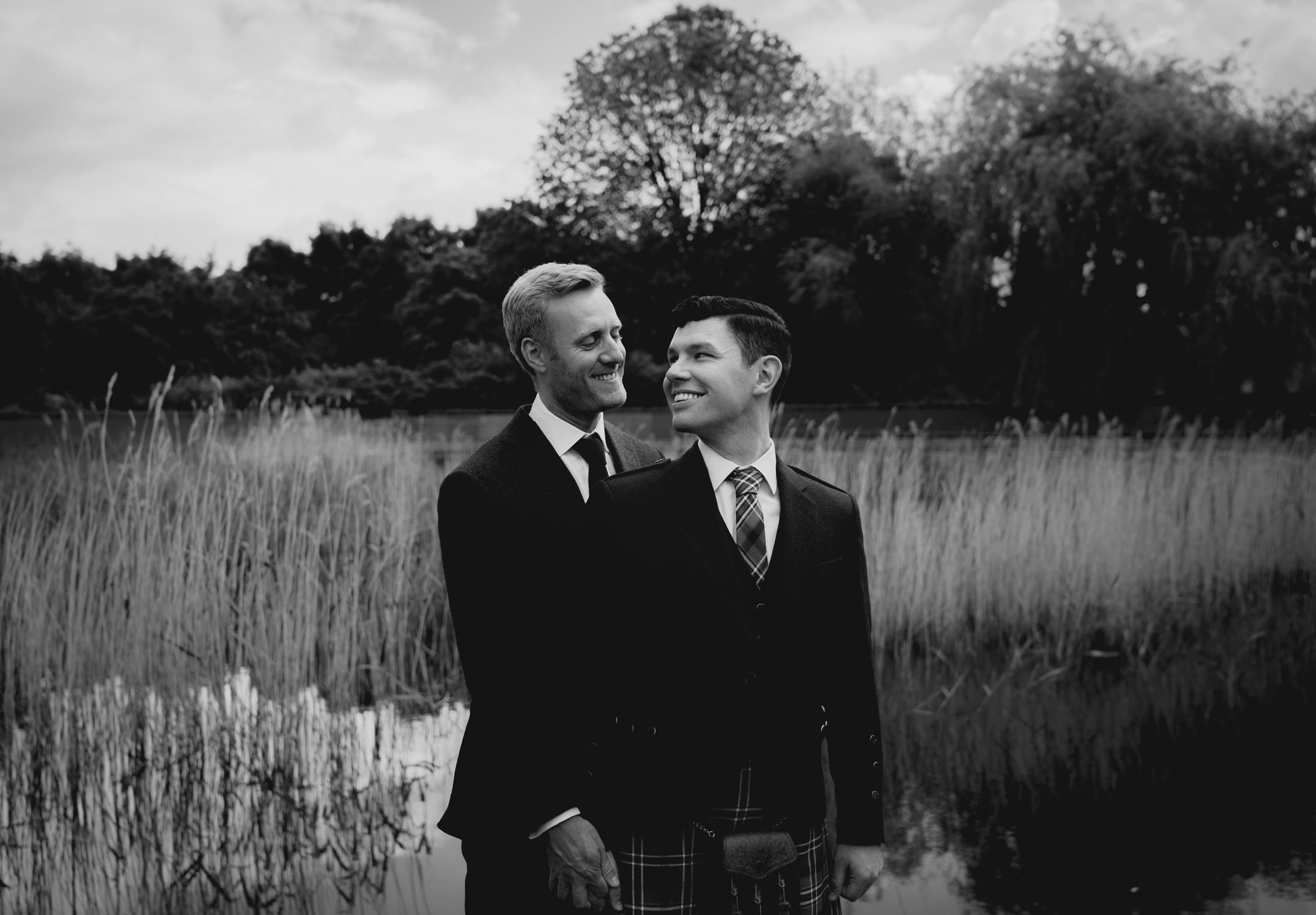 amsterdam wedding photography two men portraits