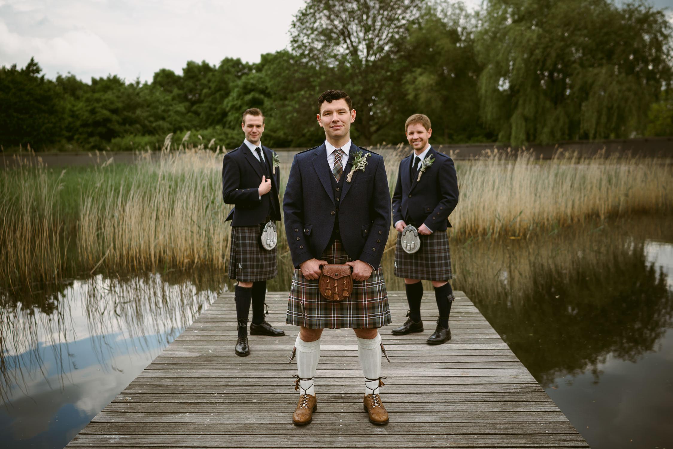 amsterdam wedding photographer groom and best men