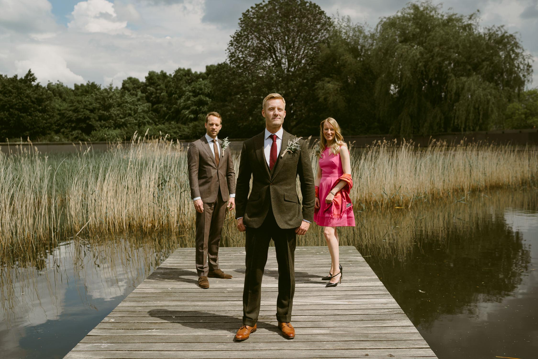 amsterdam wedding photography groom and bridesmaid