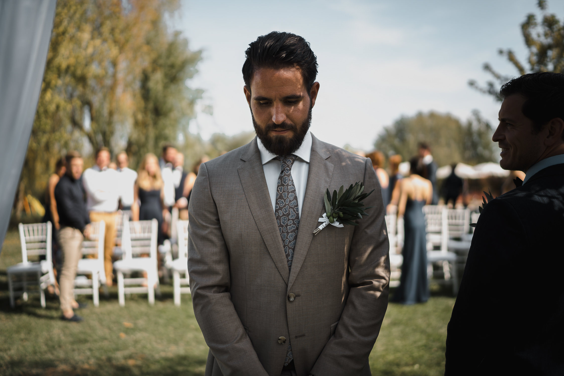 beautiful groom at destination wedding tuscany photography by mark hadden