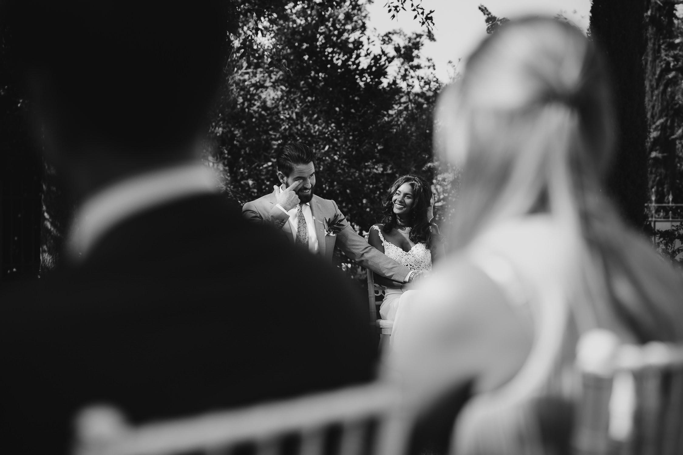 beste bruiloft fotograaf amsterdam bruidspaar bij de ceremonie
