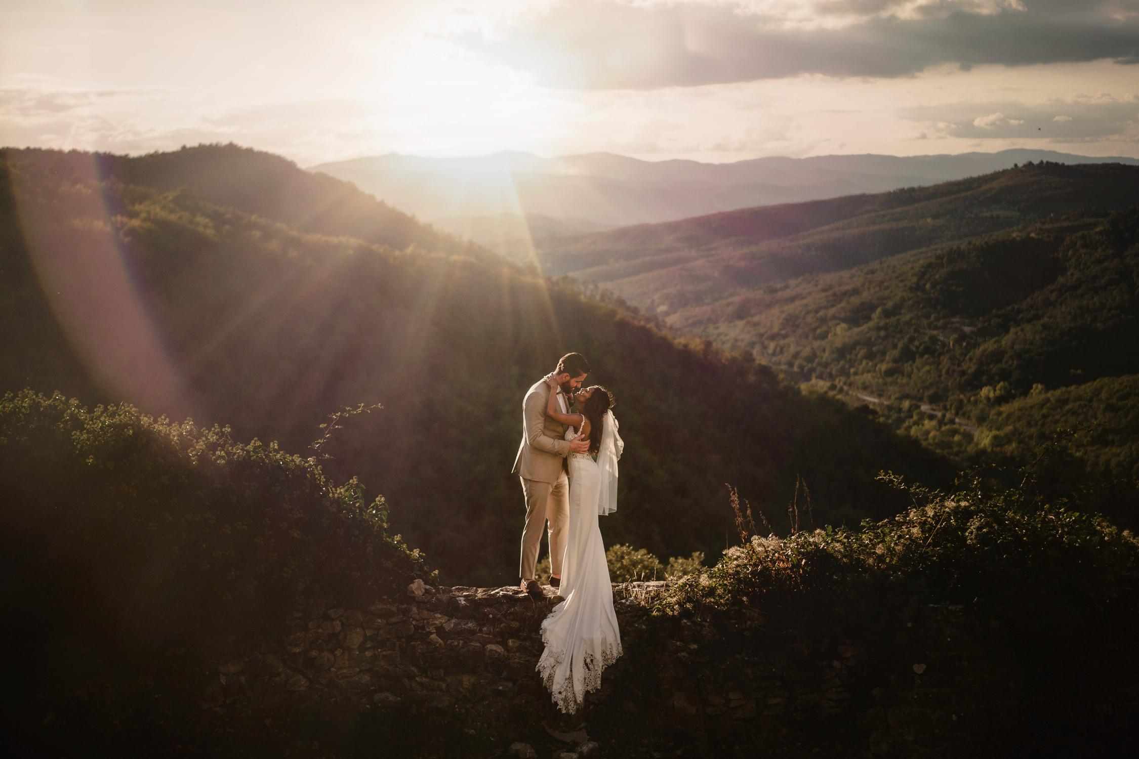 best destination wedding photographer netherlands mark hadden couple on landscape