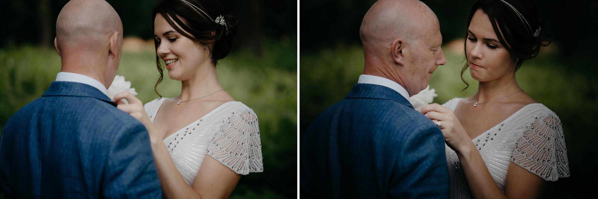 trouwfotograaf amsterdam bruidspaar in het bos portret