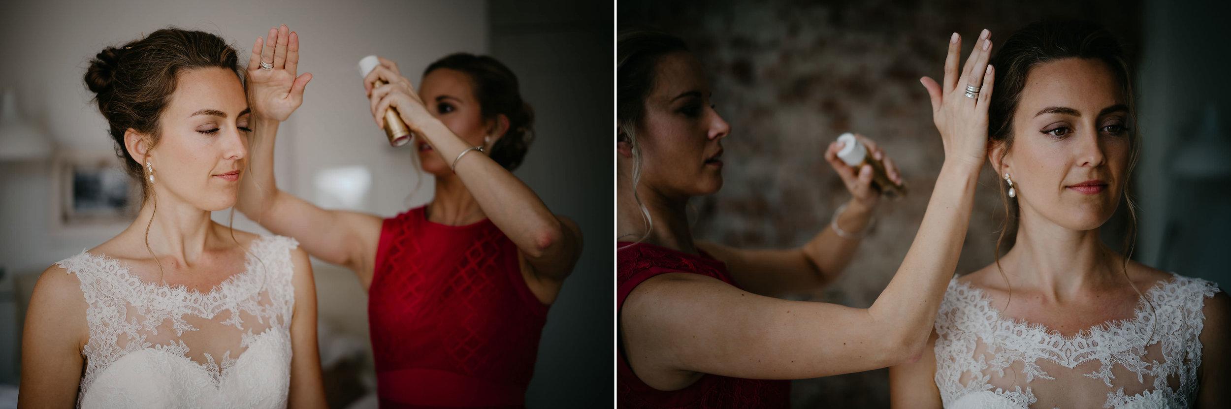 bride wedding hair and make-up photographer mark hadden