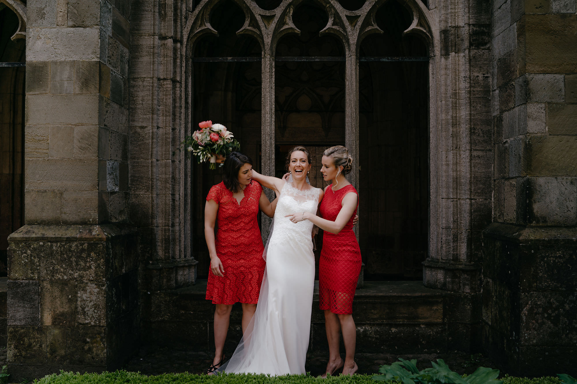 Wedding photographer Mark Hadden bride and bridesmates