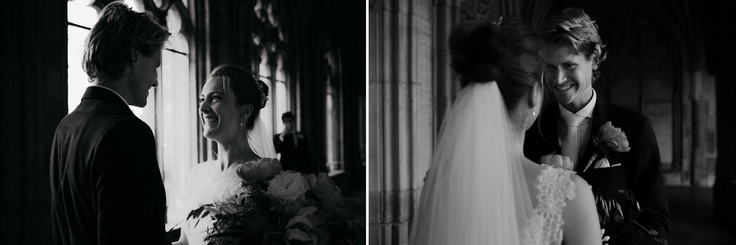 bruidspaar ontmoeten in domtoren trouwfotografie amsterdam utrecht