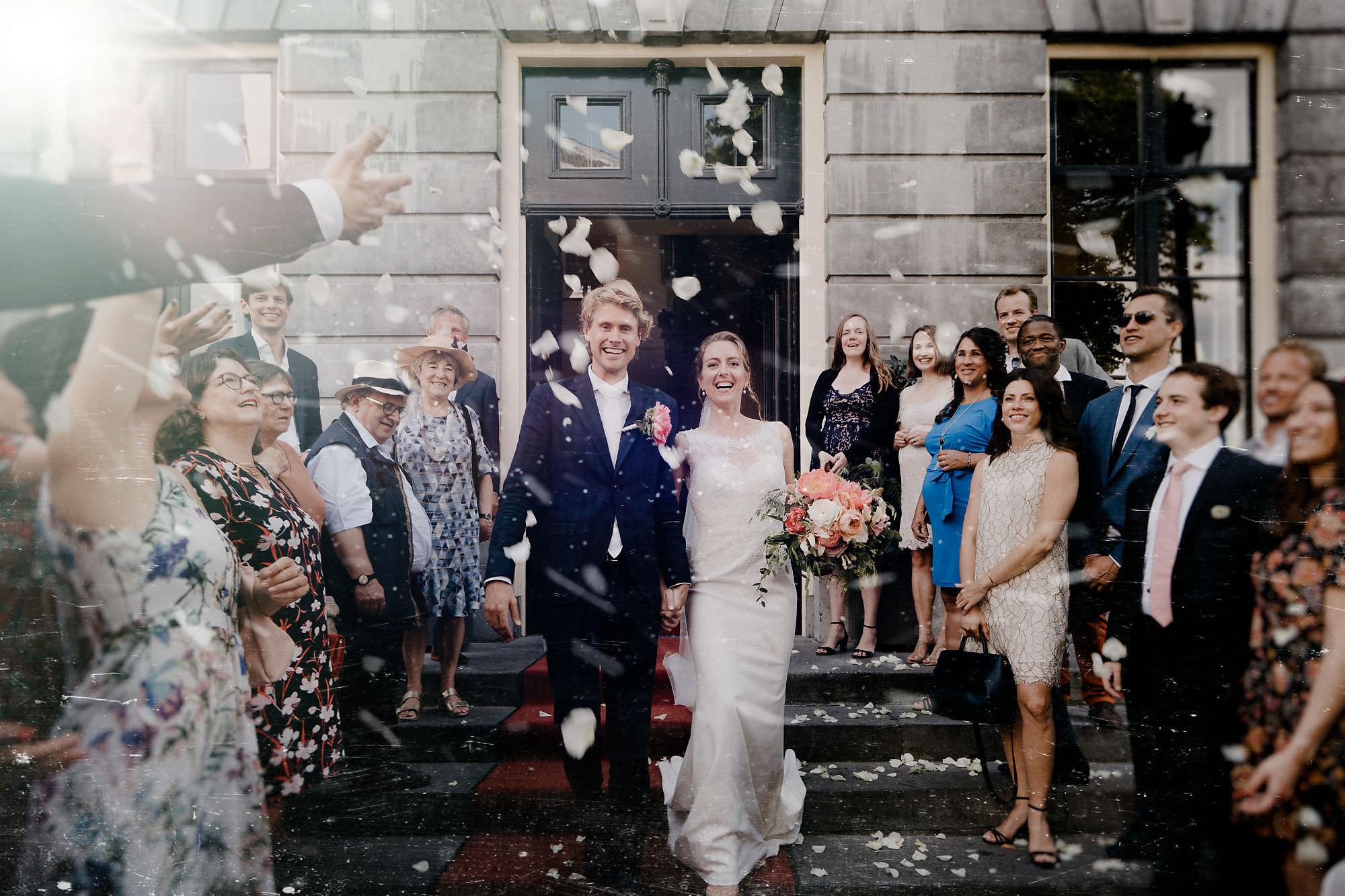 Wedding just married best wedding photographer in amsterdam