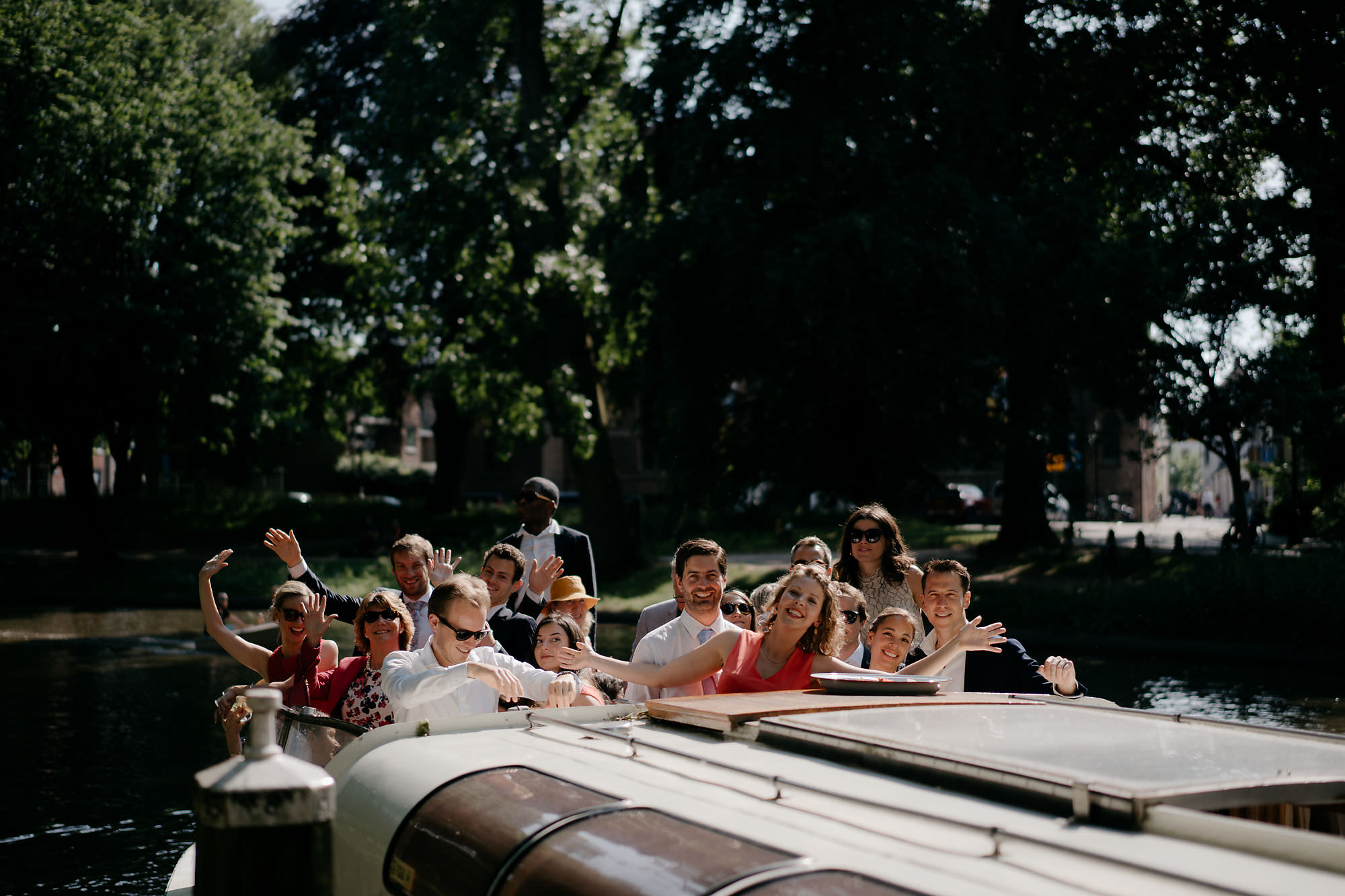 boat wedding amsterdam photographer mark hadden
