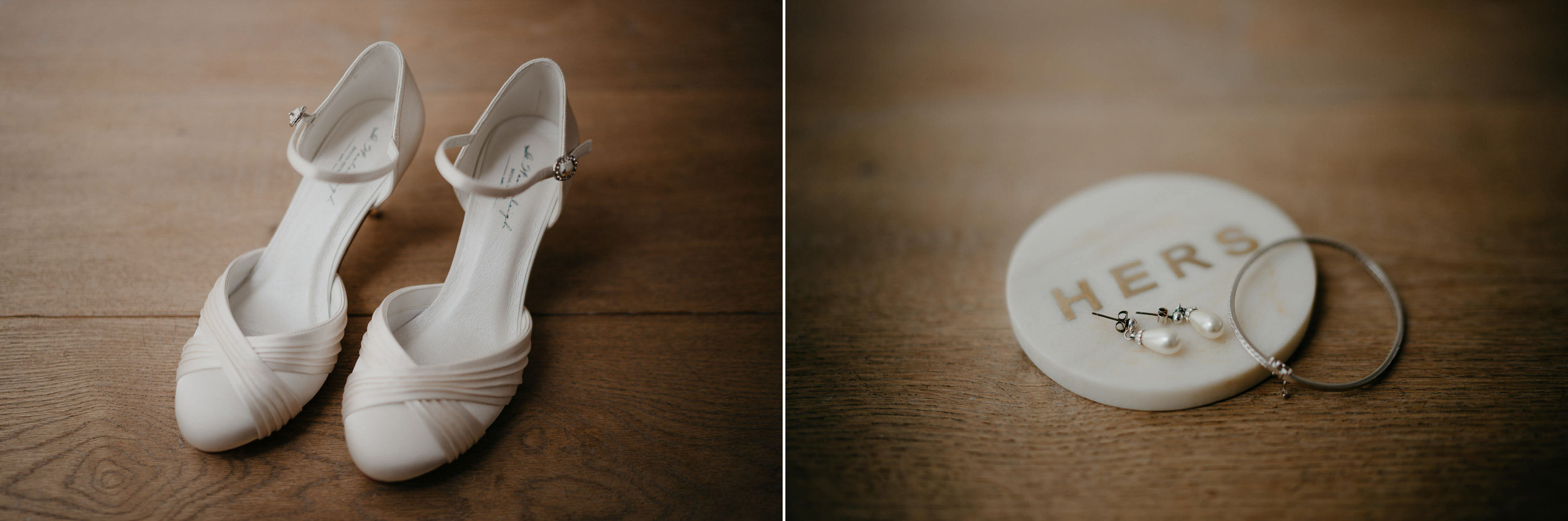 wedding photography details shoes earrings and ring