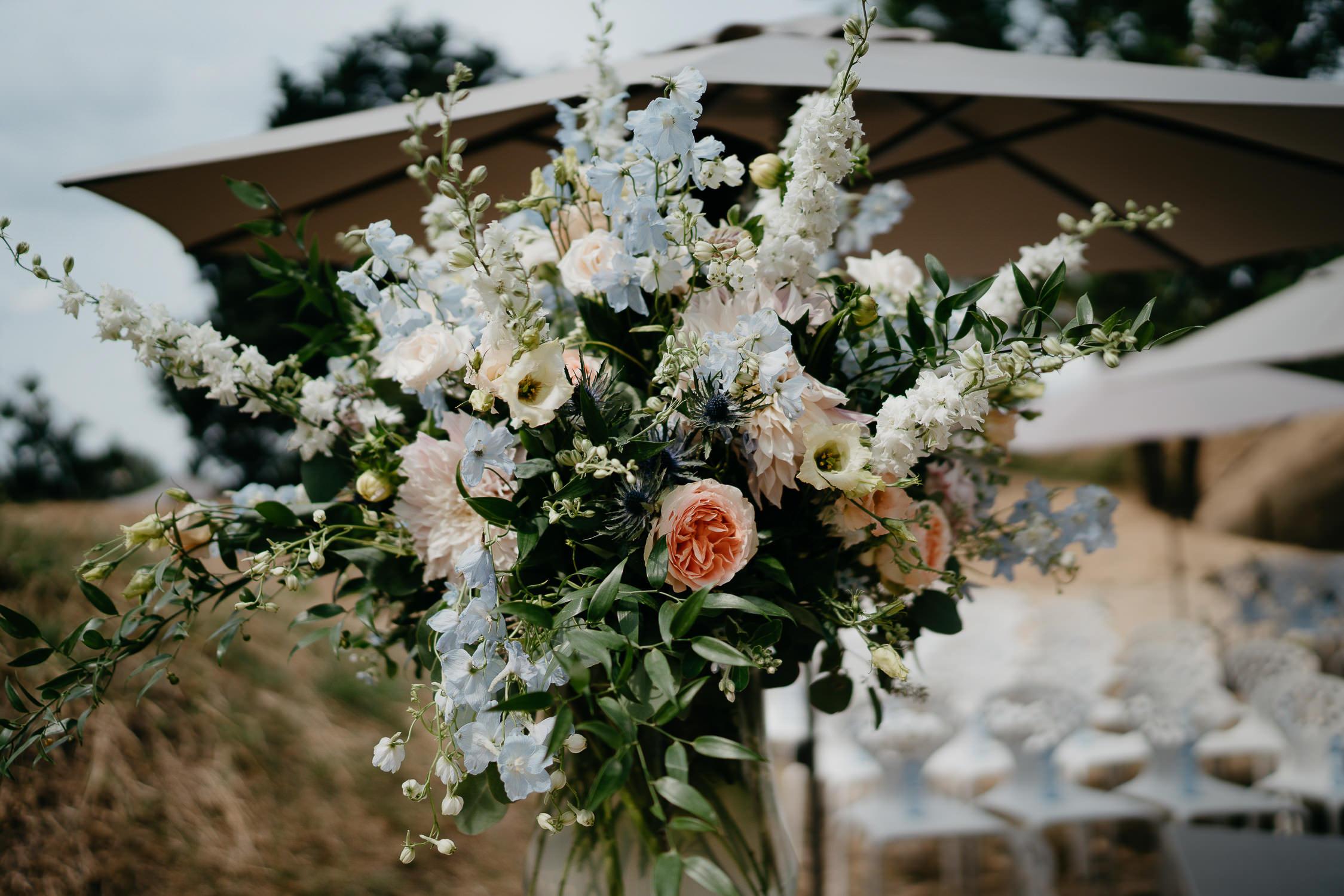 Wedding photographer Mark Hadden ceremony flowers